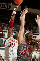 STANFORD, CA-JANUARY 18, 2012 - Nnemkadi Ogwumike scores for the Cardinal in the first half against the Washington State Cougars.