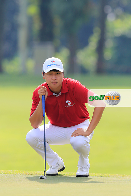 Jeunghun Wang (KOR) Asian Team during Pro-Am Day of the 2016 Eurasia Cup held at the Glenmarie Golf &amp; Country Club, Kuala Lumpur, Malaysia. 14th January 2016.<br /> Picture: Eoin Clarke   Golffile<br /> <br /> <br /> <br /> All photos usage must carry mandatory copyright credit (&copy; Golffile   Eoin Clarke)