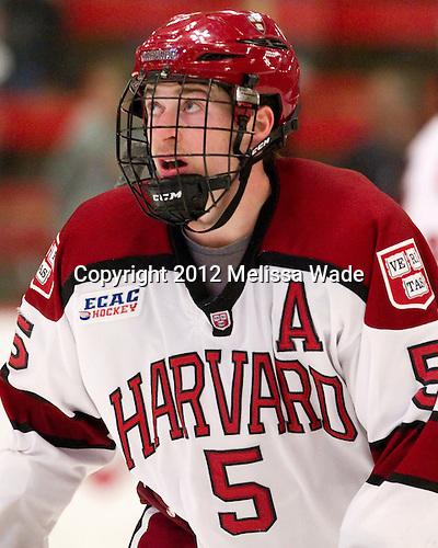 Dan Ford (Harvard - 5) - The Harvard University Crimson defeated the visiting Rensselaer Polytechnic Institute Engineers 4-0 (EN) on Saturday, November 10, 2012, at Bright Hockey Center in Boston, Massachusetts.