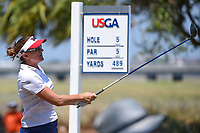 Brittany Lang (USA) watches her tee shot on 5 during round 1 of the 2019 US Women's Open, Charleston Country Club, Charleston, South Carolina,  USA. 5/30/2019.<br /> Picture: Golffile | Ken Murray<br /> <br /> All photo usage must carry mandatory copyright credit (© Golffile | Ken Murray)
