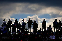 May 20, 2016; Topeka, KS, USA; NHRA fans in the grandstands during qualifying for the Kansas Nationals at Heartland Park Topeka. Mandatory Credit: Mark J. Rebilas-USA TODAY Sports