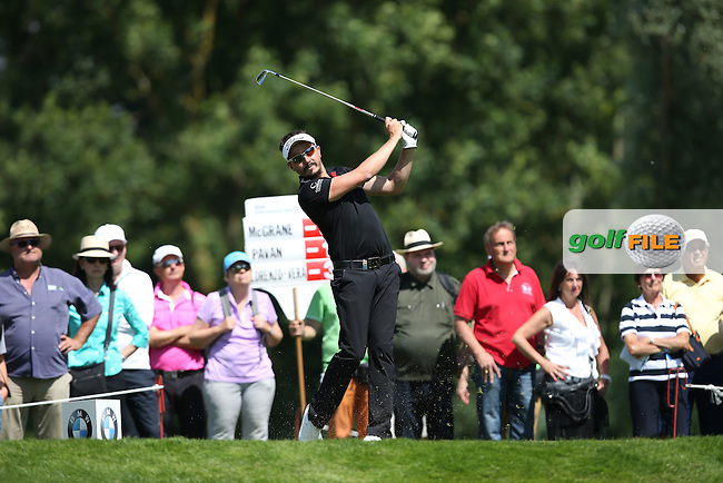 Mike Lorenzo-Vera (FRA) on the 12th tee during Round Two of the 2015 BMW International Open at Golfclub Munchen Eichenried, Eichenried, Munich, Germany. 26/06/2015. Picture David Lloyd | www.golffile.ie