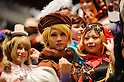 AUGUST 7, 2016 - Cosplayers pose for photographs during the World Cosplay Summit in Nagoya, Japan.  <br /> <br /> The week-long event attracts thousands of cosplayers from Japan and around the world. Cosplay, or costume play, involves participants dressing and acting as characters from TV, movies, comics, and video games. (Photo by Ben Weller/AFLO) (JAPAN) [UHU]