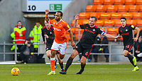 Blackpool's Nathan Delfouneso is fouled by Sunderland's Lee Cattermole<br /> <br /> Photographer Alex Dodd/CameraSport<br /> <br /> The EFL Sky Bet League One - Blackpool v Sunderland - Tuesday 1st January 2019 - Bloomfield Road - Blackpool<br /> <br /> World Copyright © 2019 CameraSport. All rights reserved. 43 Linden Ave. Countesthorpe. Leicester. England. LE8 5PG - Tel: +44 (0) 116 277 4147 - admin@camerasport.com - www.camerasport.com