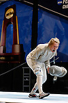 25 MAR 2016:  Princeton's Gracie Stone reacts after her semifinal win over Mathilda Taharo in the women's saber event at the Division I Women's Fencing Championship held at the Gosman Sports and Convention Center in Waltham, MA.   Damian Strohmeyer/NCAA Photos