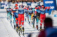 1st January 2020, Toblach, South Tyrol , Italy;  Jan Thomas Jenssen of Norway finishes in the mens 15 km classic technique pursuit during Tour de Ski on January 1, 2020 in Toblach.