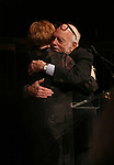 Carol Burnett and Hal Prince on stage at the  2017 Dramatists Guild Foundation Gala presentation at Gotham Hall on November 6, 2017 in New York City.