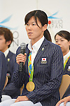 Rie Kaneto (JPN), <br /> AUGUST 17, 2016 - Swimming : Japanese Swimming medalist attend a media conference at Ajinomoto National Training Center, Tokyo, Japan. Japanese Swimming players won 2 gold medals, 2 silver medals and 3 bronze medals in the Rio 2016 Olympic Games. (Photo by AFLO SPORT)