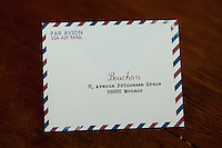 Bouchon restaurant, Monaco, 23 March 2012. Bills are presented to customers in custom envelopes.