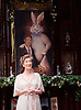 Harvey<br /> by Mary Chase <br /> at Birmingham Rep Theatre, Birmingham, Great Britain <br /> Press photocall <br /> 11th February 2015<br /> <br /> <br /> Maureen Lipman as Veta Louise Simmons <br /> <br /> <br /> <br /> <br /> Directed by Lindsey Posner<br /> <br /> <br /> Photograph by Elliott Franks
