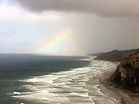 Rainbow starting to develope off La Jolla