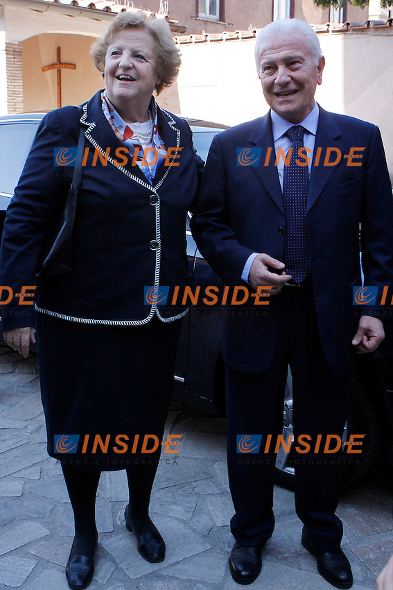 Il ministro dell'Interno Annamaria Cancellieri e il senatore Achille  Serra.Roma 29/03/2012 Convegno organizzato dall'UdC su i temi della Giustizia e della Legalita'..Foto Serena Cremaschi Insidefoto