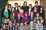MOCK PROM: Having fun at the KDYS mock prom in the KDYS Killarney on Friday evening were front l-r: Shane Scully (Beaufort), Sea?n McGillicuddy (Tiernaboul), Joe Wynfield (Castlemaine), Alex Cunningham (Killarney) and Dylan Griffin (Killarney). Middle l-r: Millie Kennedy (Killorglin), Jennifer Fitzgerald (Keel), Natalia Talula (Russia), Cait Griffin (Cromane) and Frances Connor (Cromane). Back l-r: Katie Hartnett (Muckross), Jordan Griffin (Killarney), Sheila O'Connor (Killarney), Eoin Galvin, Saoirse Galvin, Cathal Mangan, Marie Kerins (all Killarney), Hannah Kemp (Cromane), Brian Bartley and Fiona Sullivan (Killarney).   Copyright Kerry's Eye 2008