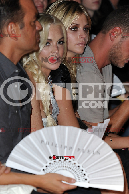 LIndsay Lohan at the Philipp Plein Urban Jungle show during Milan Fashion Week Womenswear Spring/Summer 2012 on September 24, 2011 in Milan, Italy. ***NO ITALY*** © Maria Laura Antonelli/AGF/MediaPunch Inc. /NortePhoto.com