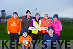 Ready for road at the Let's get Kerry walking, National Operation Transformation Walk in the Tralee Bay Wetlands on Saturday.<br /> Kneeling l-r, Jayden Barrett and Mikey Moran.<br /> Back l-r, Tom Barrett, Pat Galvin, Trish Daly, Caroline Kennedy and Kate Reidy.