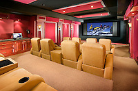 Large Modern Home Theater With Modest Seating