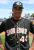 August 24, 2003:  Daniel Cabrera of the Delmarva Shorebirds, Class-A affiliate of the Baltimore Orioles, during a South Atlantic League game at Classic Park in Eastlake, OH.  Photo by:  Mike Janes/Four Seam Images