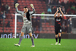 Liverpool goalkeeper Simon Mignolet thanks the fans at the end of the game - Barclays Premier League - Southampton vs Liverpool - St Mary's Stadium - Southampton - England - 22nd February 2015 - Pic Robin Parker/Sportimage