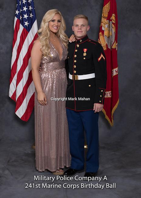 Samuel Baker at the Military Police Company A 241 Marine Corps Birthday Ball, Saturday Nov. 19, 2016  in Lexington, Ky. Photo by Mark Mahan