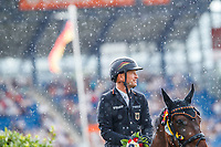 GER-Michael Jung and fischerChipmunk take  individual 2nd place, during the SAP Cup - CICO4*-S Nations Cup Eventing Prizegiving. 2019 GER-CHIO Aachen Weltfest des Pferdesports. Saturday 20 July. Copyright Photo: Libby Law Photography
