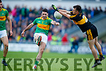 John Payne Dr Crokes in action against Bryan Sheehan South Kerry in the Senior County Football Final in Austin Stack Park on Sunday
