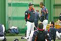 (L to R) . Kazuyoshi Tatsunami (JPN), .Sho Nakata (JPN), .MARCH 1, 2013 - WBC : .2013 World Baseball Classic .Japan team training .in Fukuoka, Japan. .(Photo by YUTAKA/AFLO SPORT)