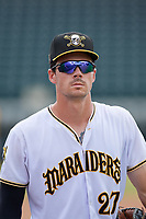 Bradenton Marauders Lucas Tancas (27) after a Florida State League game against the Tampa Tarpons on May 26, 2019 at LECOM Park in Bradenton, Florida.  Bradenton defeated Tampa 3-1.  (Mike Janes/Four Seam Images)