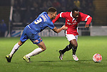 Jake Carroll of Hartlepool Utd pulling Joe Mwaslie of Salford City from the ball - Emirates FA Cup Second Round Replay - Hartlepool vs Salford City - Victoria Park - Hartlepool - England - 15th of December 2015 - Picture Jamie Tyerman/Sportimage