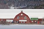 Red barn in Woodstock, VT, USA