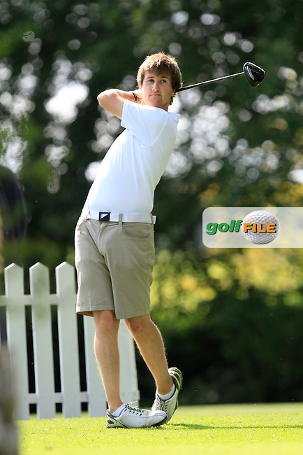 Colm Crowley (Woodbrook) on the 8th tee during round 2 of The Mullingar Electrical Scratch Trophy in Mullingar Golf Club on Monday 4th August 2014.<br /> Picture:  Thos Caffrey / www.golffile.ie