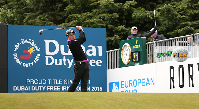 Luke Donald (ENG) begins Round Three of the 2015 Dubai Duty Free Irish Open Hosted by The Rory Foundation at Royal County Down Golf Club, Newcastle County Down, Northern Ireland. 30/05/2015. Picture David Lloyd | www.golffile.ie