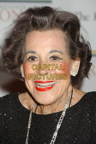 KITTY CARLISE HART.Kennedy Center Honors 2006 State Department Dinner,  held at the State Department, Washington, D.C. USA,.02 December 2006..portrait headshot.CAP/ADM/LF.©Laura Farr/AdMedia/Capital Pictures.