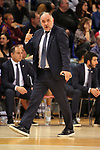 Turkish Airlines Euroleague 2018/2019. <br /> Regular Season-Round 24.<br /> FC Barcelona Lassa vs R. Madrid: 77-70. <br /> Pablo Laso.