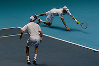 Bob & Mike Bryan against Mark Knowles & Nahesh Bhupati in the semi-finals of the doubles. M & B Bryan beat Knowles & Bhupati 6-4 6-4..International Tennis - Barclays ATP World Tour Finals - O2 Arena - London - Day 7 - Sat 28 Nov 2009..© Frey  - AMN IMAGES, 1st Floor, Barry House, 20-22 Worple Road, London, SW19 4DH. Tel +44 20 8947 0100