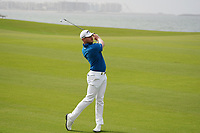 Oliver Fisher (ENG) on the 9th during Round 1 of the Oman Open 2020 at the Al Mouj Golf Club, Muscat, Oman . 27/02/2020<br /> Picture: Golffile   Thos Caffrey<br /> <br /> <br /> All photo usage must carry mandatory copyright credit (© Golffile   Thos Caffrey)