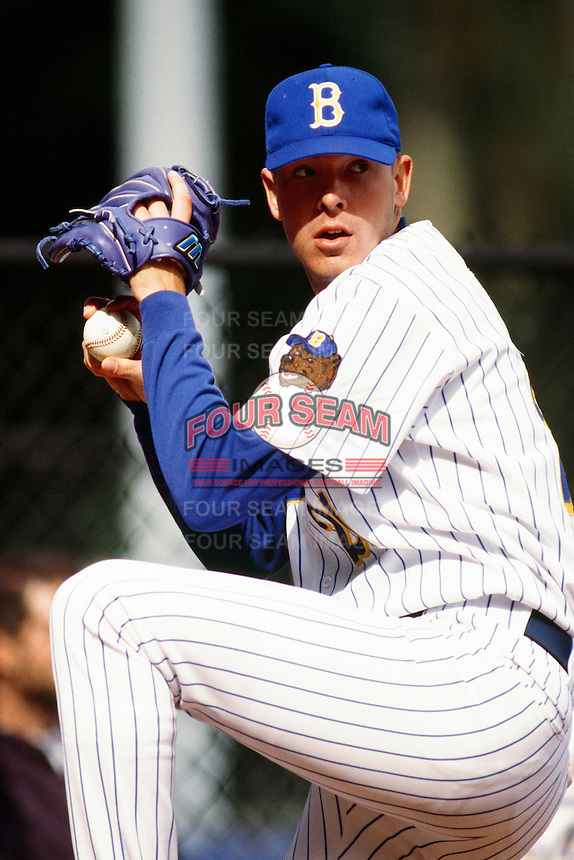 Josh Karp of the UCLA Bruins during a NCAA baseball game at Jackie Robinson Stadium circa 1999 in Los Angeles, California. (Larry Goren/Four Seam Images)