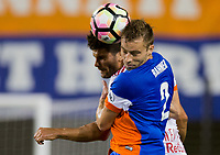 Cincinnati, OH - Tuesday August 15, 2017: Matt Bahner during a 2017 U.S. Open Cup game between FC Cincinnati vs New York Red Bulls at Nippert Stadium.