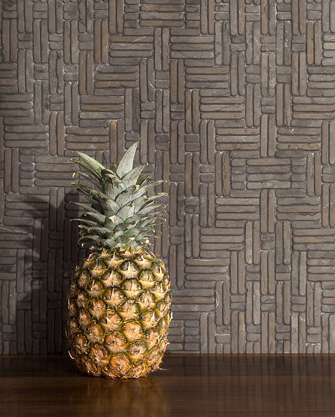 Jute, a hand-cut tumbled mosaic, shown in Cavern, is part of the Tissé® collection for New Ravenna.