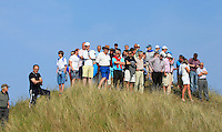 A small crowd beside the 15th tee during Round 4 of the East of Ireland Amateur Open Championship sponsored by City North Hotel at Co. Louth Golf club in Baltray on Monday 6th June 2016.<br /> Photo by: Golffile   Thos Caffrey