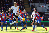 Eric Dier of Tottenham Hotspur and James Tomkins of Crystal Palace during Crystal Palace vs Tottenham Hotspur, Premier League Football at Selhurst Park on 25th February 2018