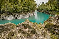 Hokitika Gorge, West Coast, New Zealand - stock photo, canvas, fine art print