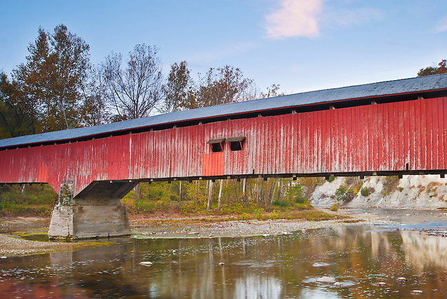 Deers Mill Covered Bridge in Shades State Park, Montgomery County, Indiana