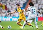 Roland Sallai (l) of APOEL FC is tackled by Marcelo Vieira Da Silva of Real Madrid during the UEFA Champions League 2017-18 match between Real Madrid and APOEL FC at Estadio Santiago Bernabeu on 13 September 2017 in Madrid, Spain. Photo by Diego Gonzalez / Power Sport Images