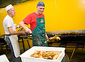 SAGRA DEL &quot;PESCE E PATATE&quot; 2011, BARGA, ITALY<br /> <br /> THE FISH AND CHIPS ARE PREPARED BEHIND THE SCENES.