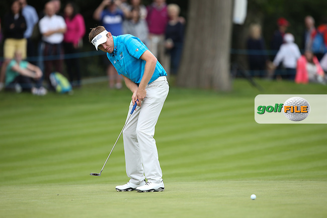 Rookie Jason Palmer (ENG) enjoying the weekend at during Round Three of the 2015 BMW PGA Championship over the West Course at Wentworth, Virginia Water, London. 23/05/2015. Picture David Lloyd | www.golffile.ie.