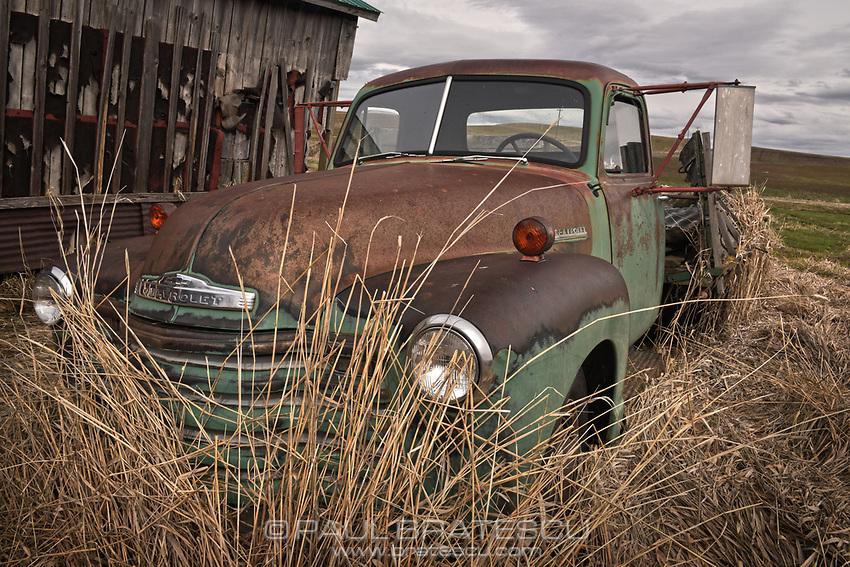 Aging Chevy on the Palouse Prairie Washington state