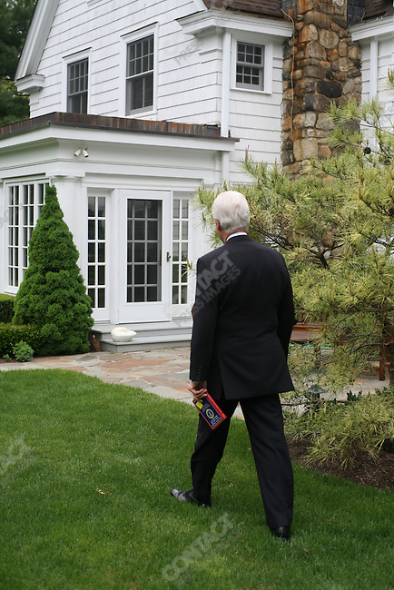 Former US President Bill Clinton at home, Chappaqua, New