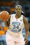 11 November 2013: North Carolina's Xylina McDaniel. The University of North Carolina Tar Heels played the University of Tennessee Lady Vols in an NCAA Division I women's basketball game at Carmichael Arena in Chapel Hill, North Carolina. Tennessee won the game 81-65.