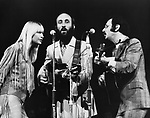 Peter Paul & Mary 1969 Mary Travers, Paul Stookey and Peter Yarrow.© Chris Walter.