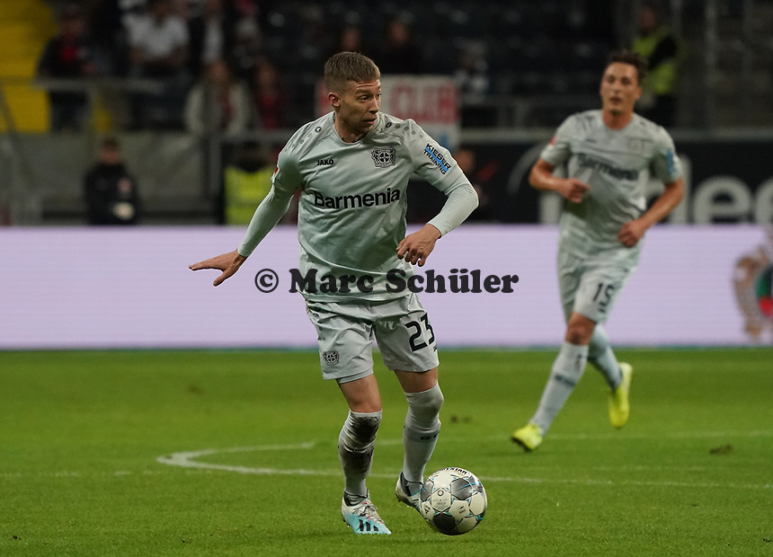Mitchell Weiser (Bayer Leverkusen) - 18.10.2019: Eintracht Frankfurt vs. Bayer 04 Leverkusen, Commerzbank Arena, <br /> DISCLAIMER: DFL regulations prohibit any use of photographs as image sequences and/or quasi-video.